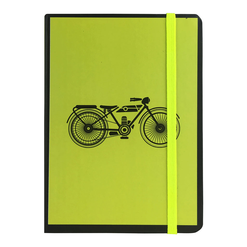 A6 Vintage Diary - Yellow Bike