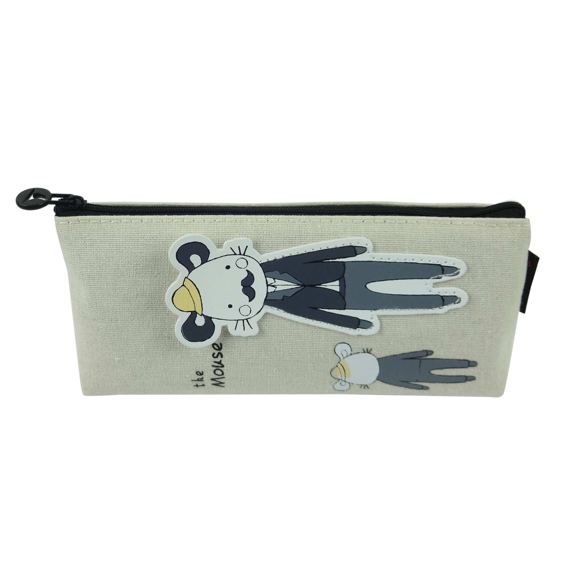 Fabric Pencil Case - Daddy Baby Cat Black