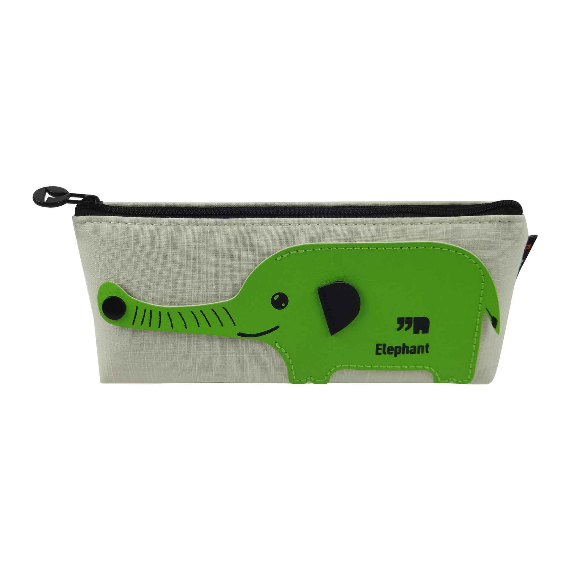 Fabric Pencil Case - Elephant Green