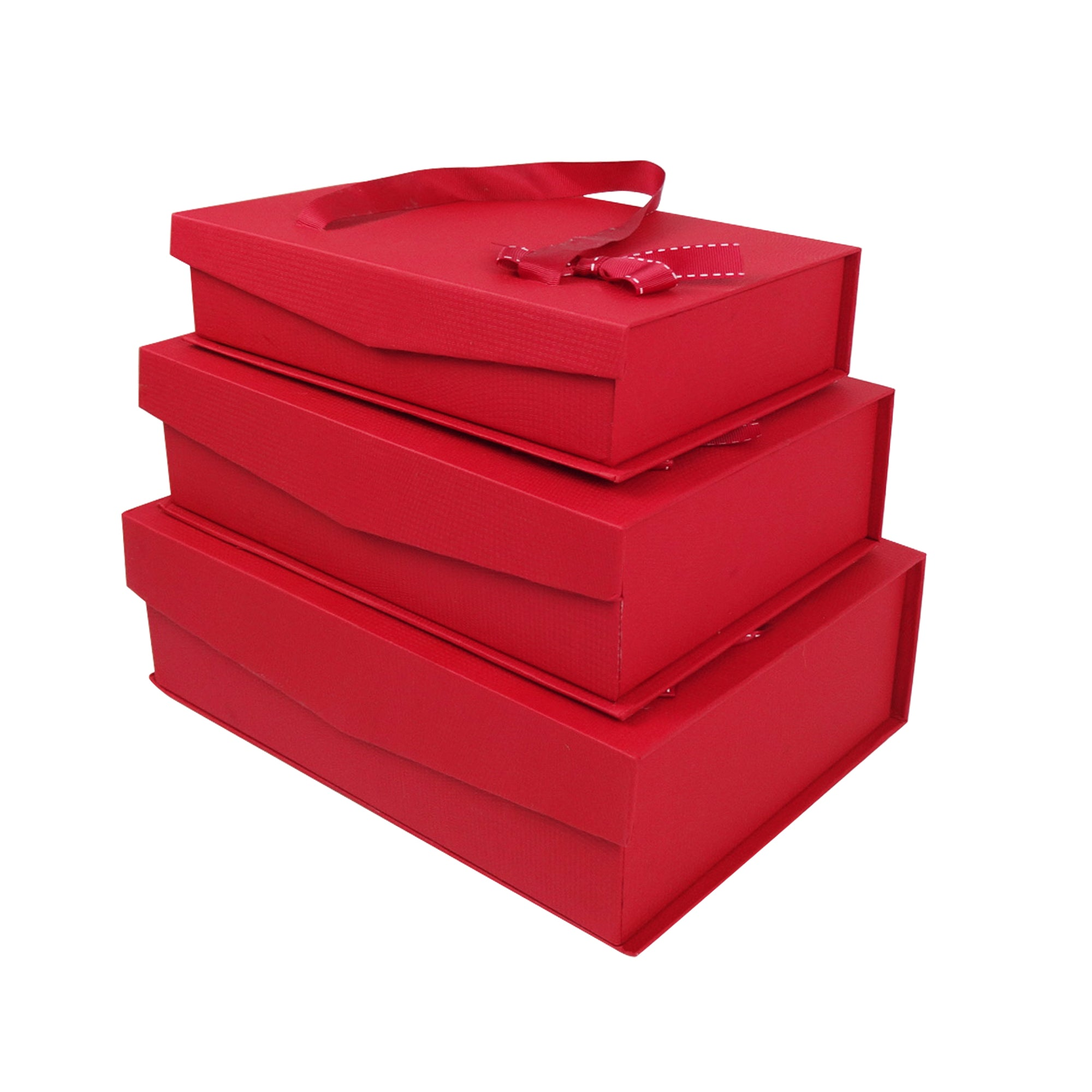 Red Magnetic Gift Box - Set of 3