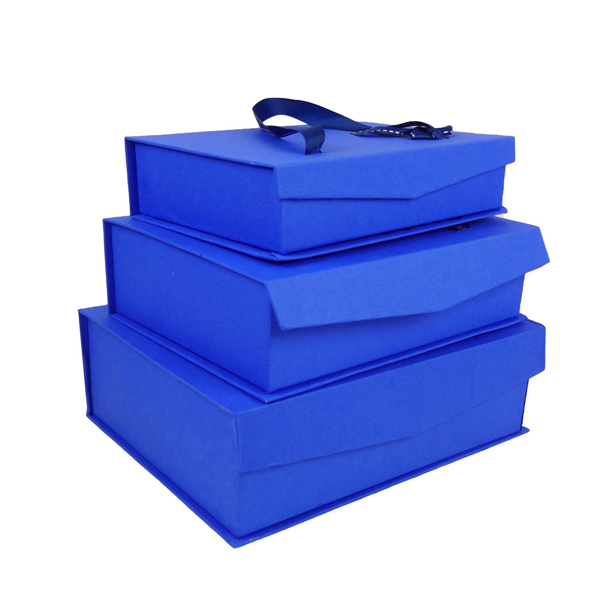 Dark Blue Magnetic Gift Box - Set of 3
