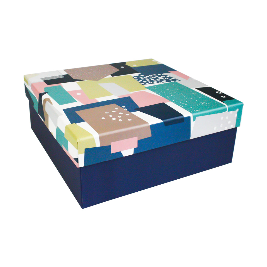 Square Printed Top Gift Box - Set of 3