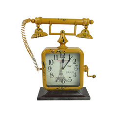 Telephone Clock - Yellow