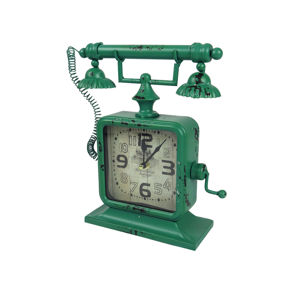 Telephone Clock - Green