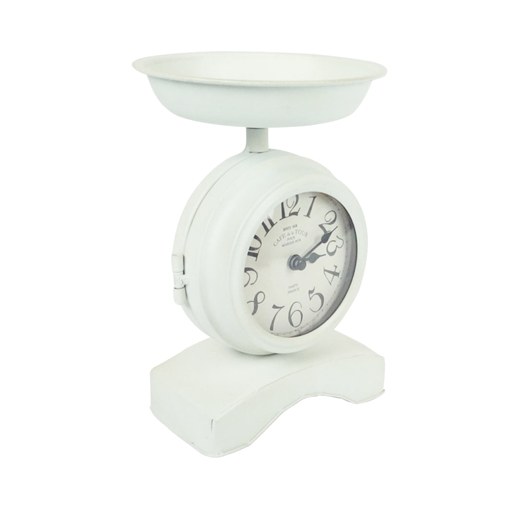 Weighing Scale Clock - White