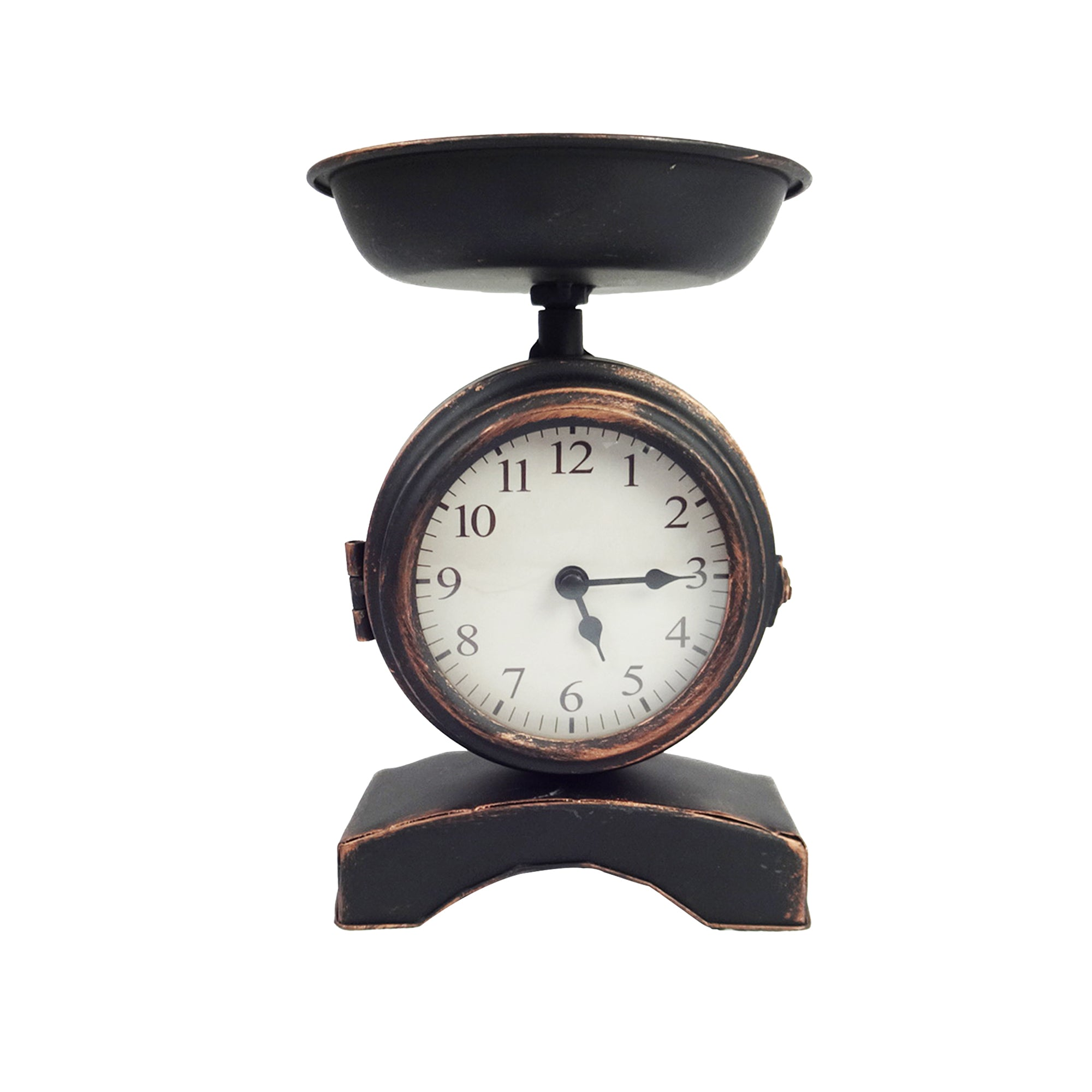 Weighing Scale Clock - Black