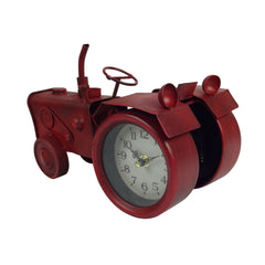 Tractor Clock - Red