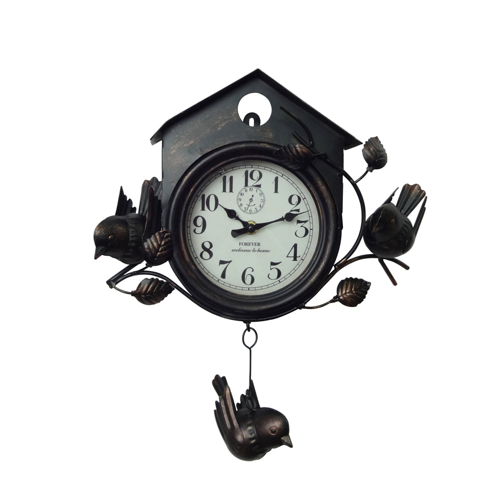 Bird House Clock - Black