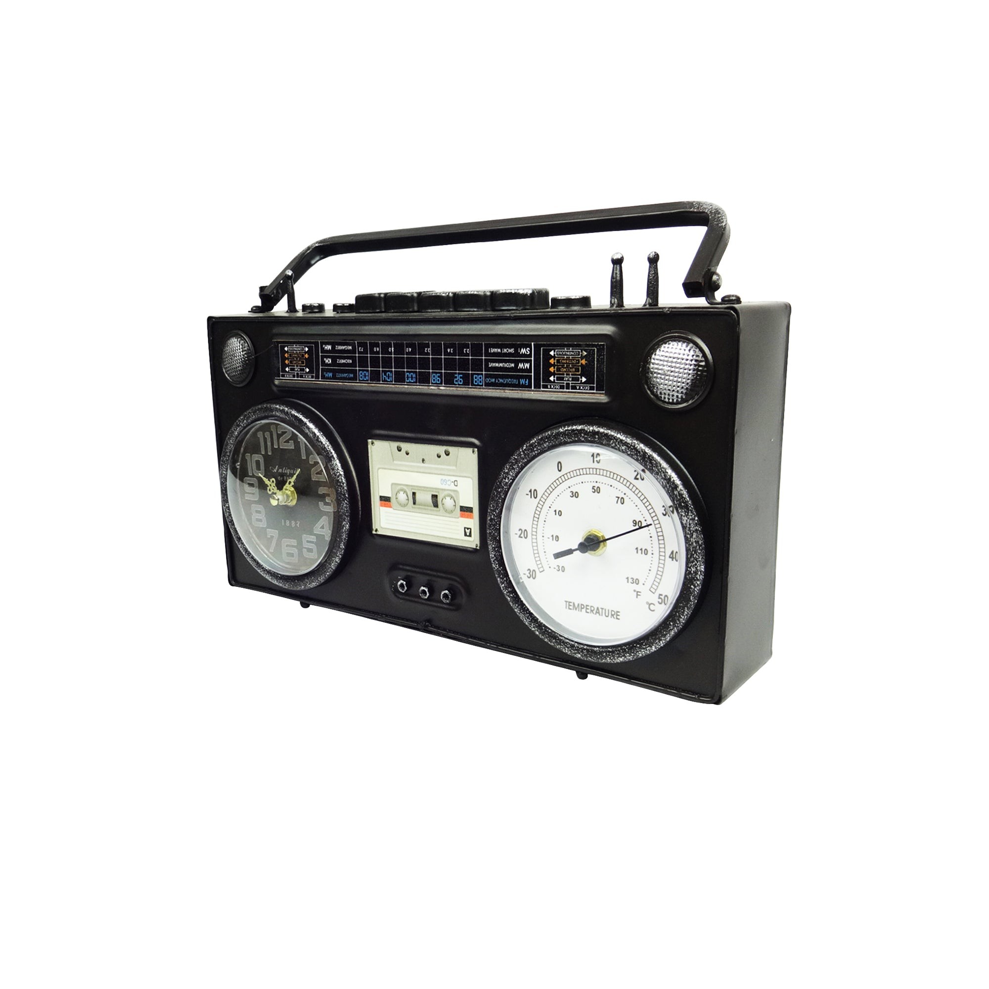 Tape Recorder Clock - Black