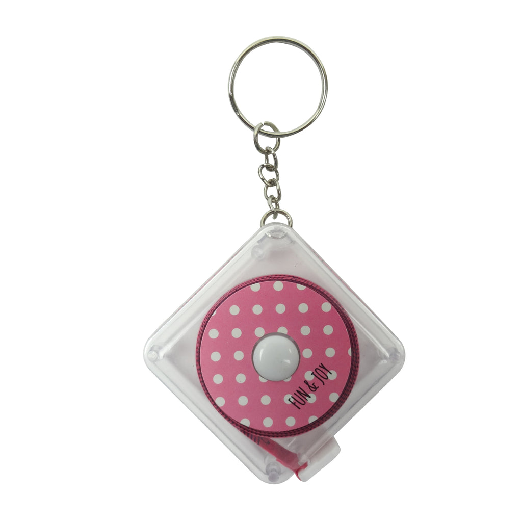 Square Measuring Tape - Pink
