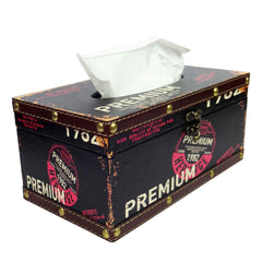 Retro Tissue Box - Premium Black