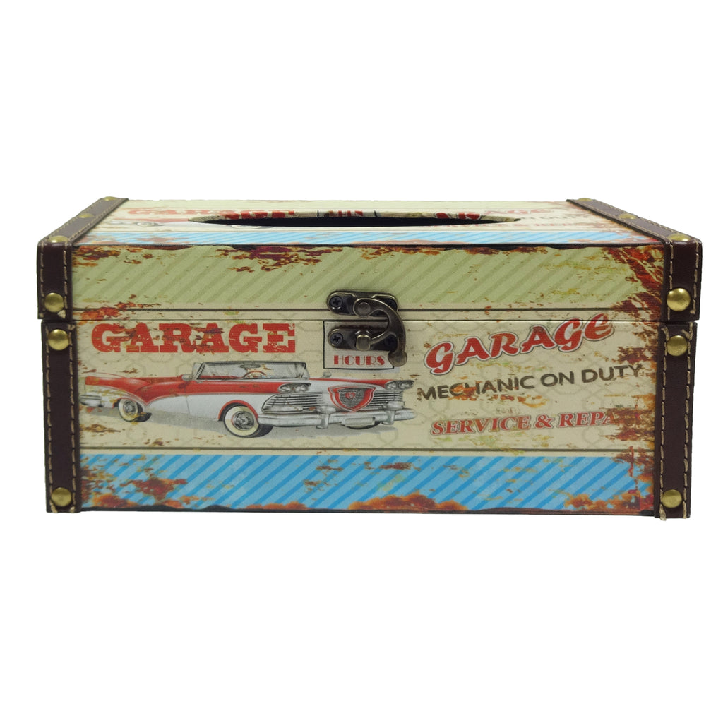 Retro Tissue Box - Garage
