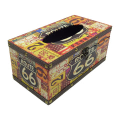 Retro Tissue Box - Route 66