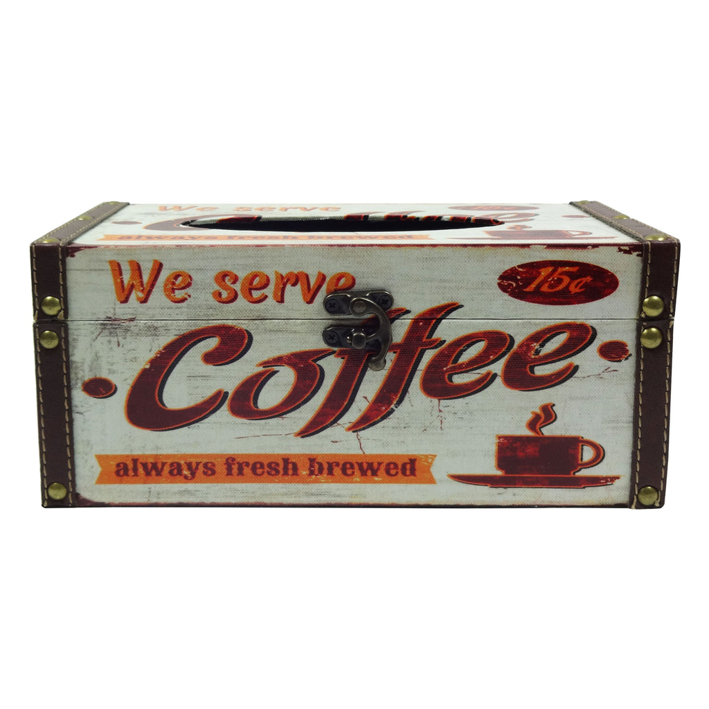 Retro Tissue Box - Coffee