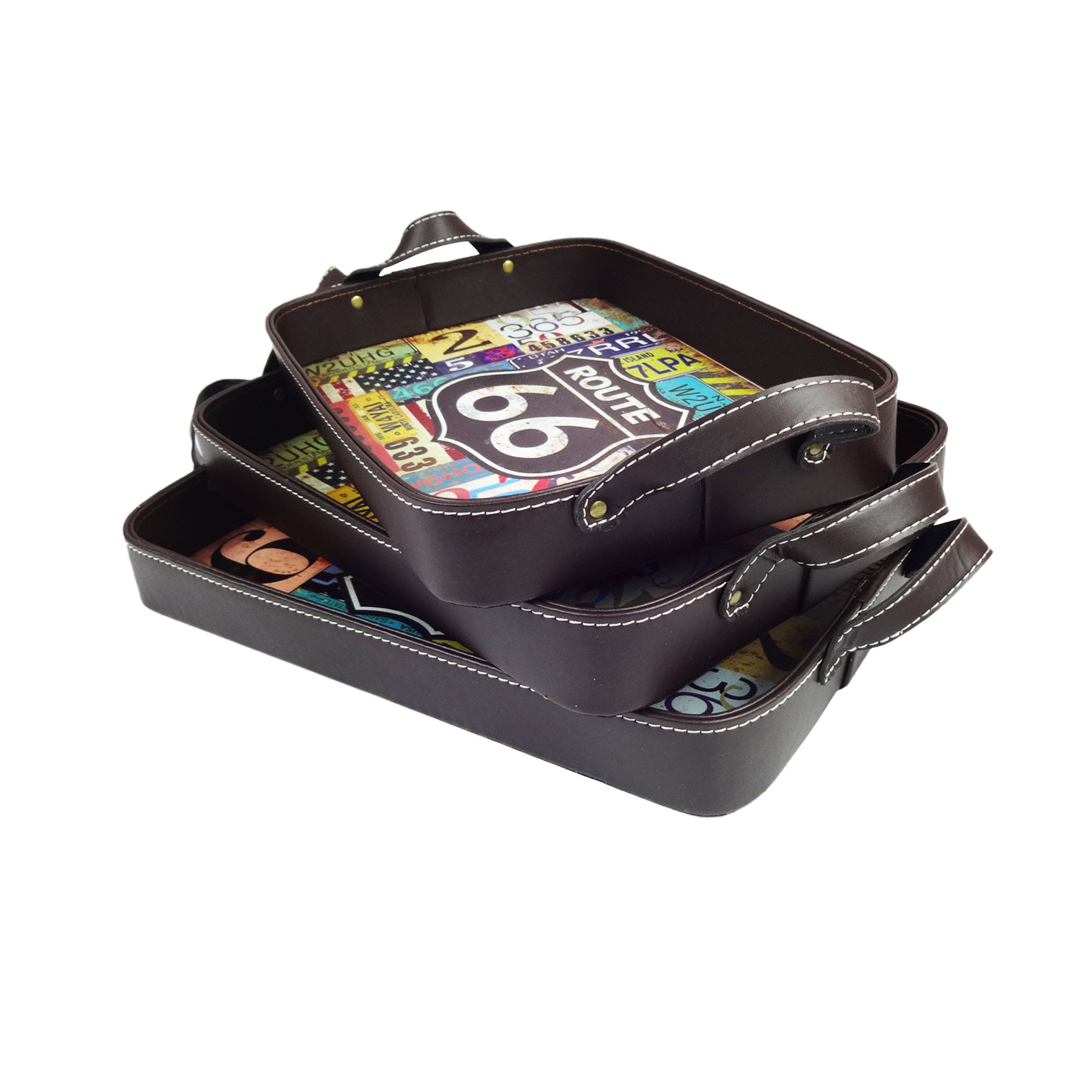Route 66 Tray - Set of 3