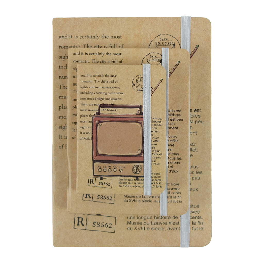 A5 / A6 / A7 TV Diary - Set of 3
