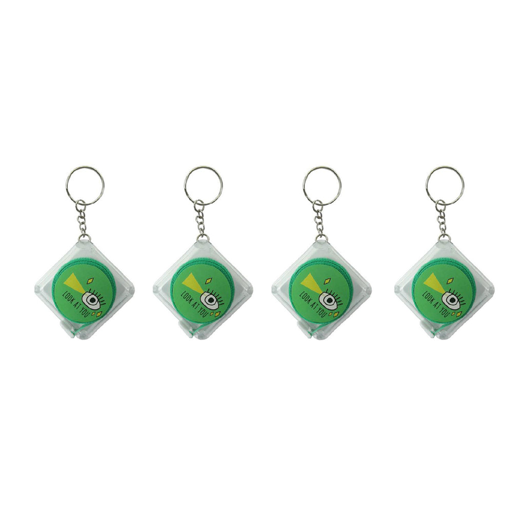 Green Square Measuring Tape - Set of 4