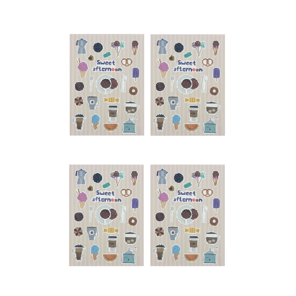 Sweet Afternoon Stickers - Set of 4