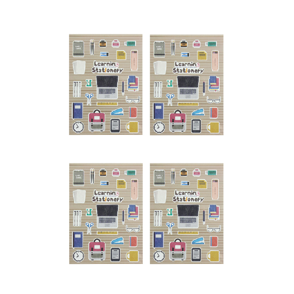 Learning Stationery Stickers - Set of 4