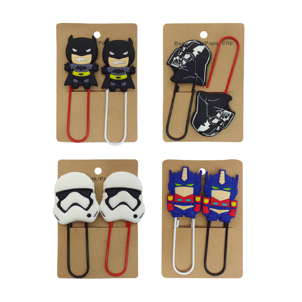 Paper Clip - Set of 4 (Batman, Ironman, Darth Vader, Drones)