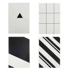 B5 Black & White - Set of 4