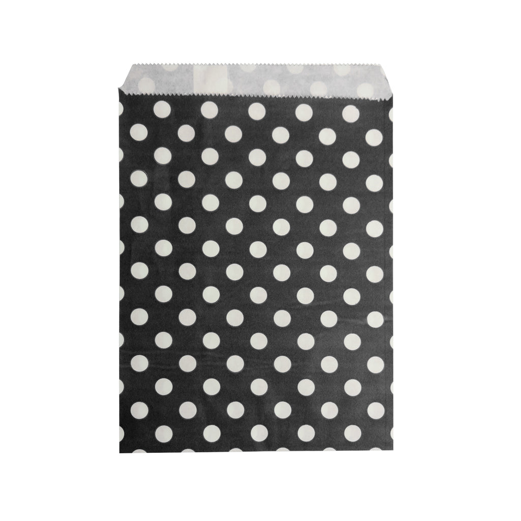 Big Black Polka Paper Bag - 100 pcs