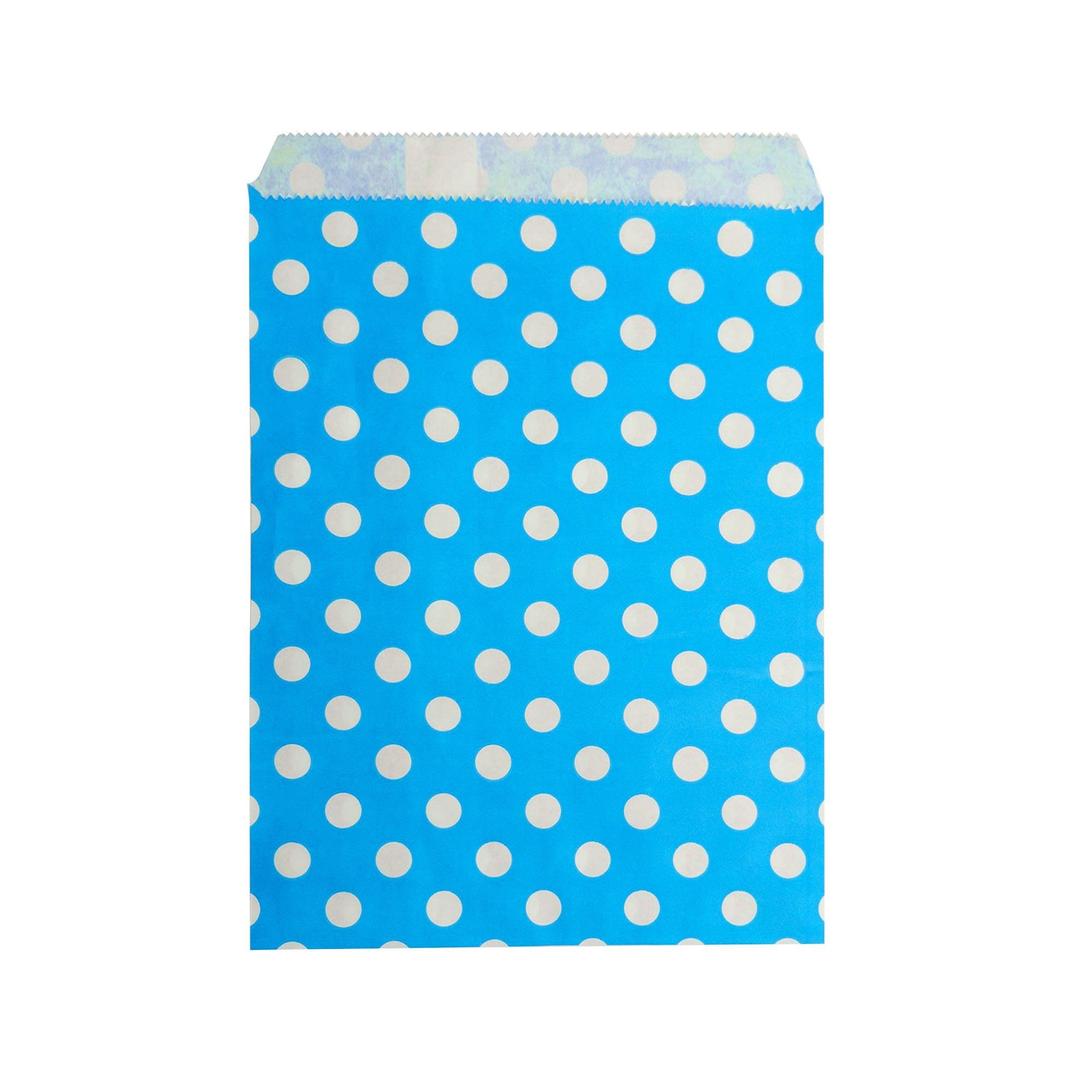 Big Blue Polka Paper Bag - 50 pcs