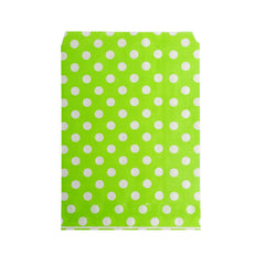 Big Green Polka Paper Bag - 100 pcs