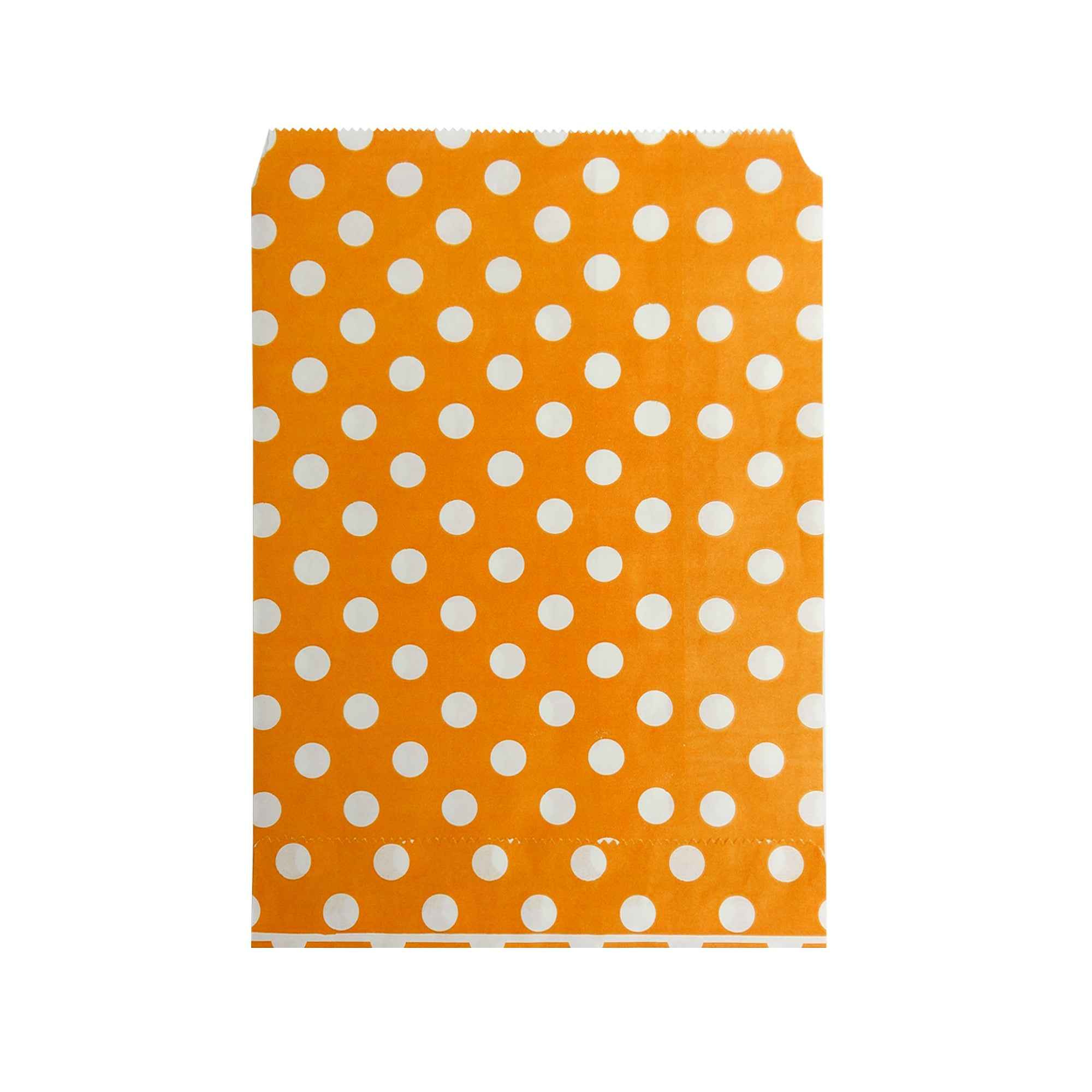Big Orange Polka Paper Bag - 50 pcs