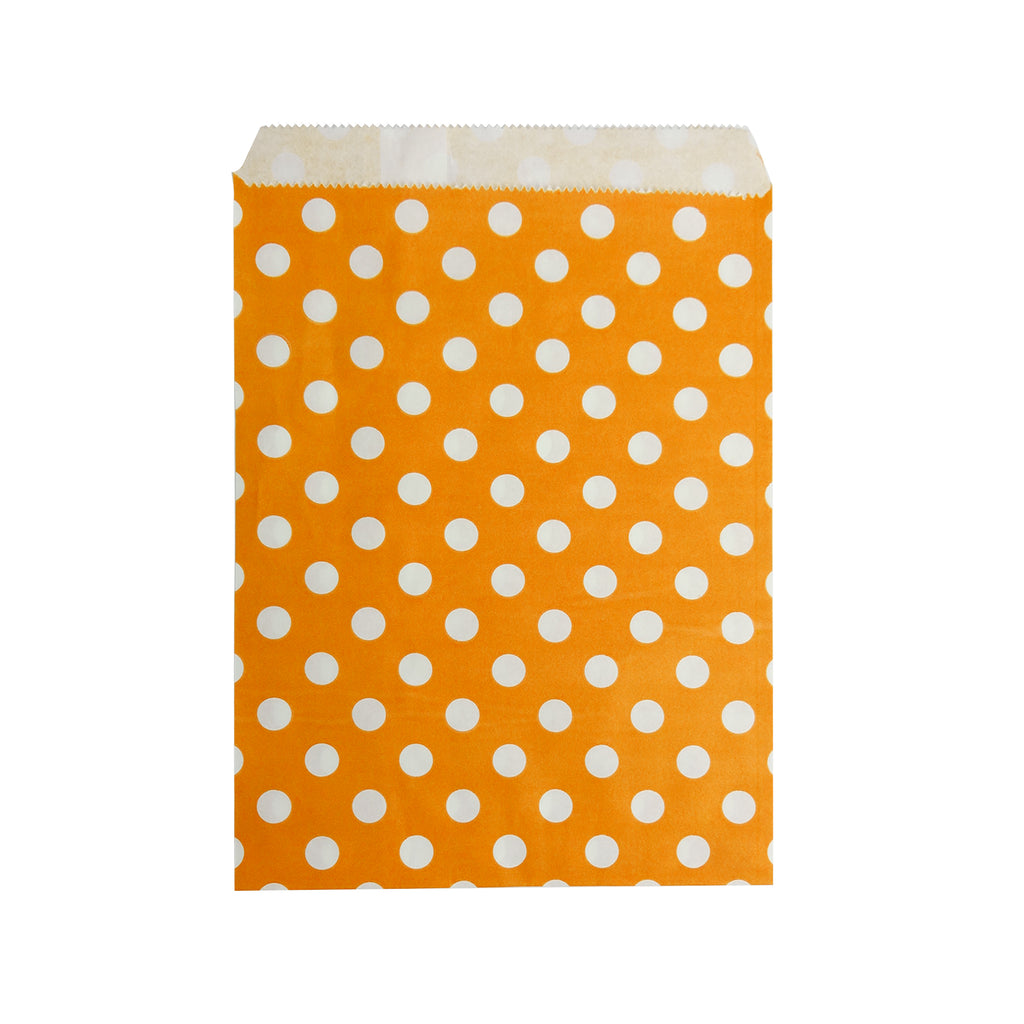 Big Orange Polka Paper Bag - 100 pcs