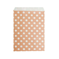 Big Peach Polka Paper Bag - 50 pcs