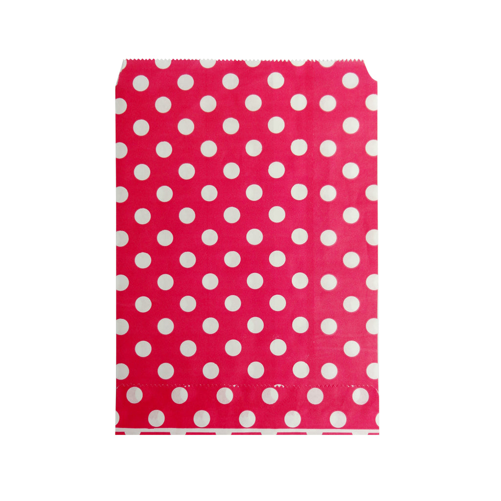 Big Red Polka Paper Bag - 100 pcs