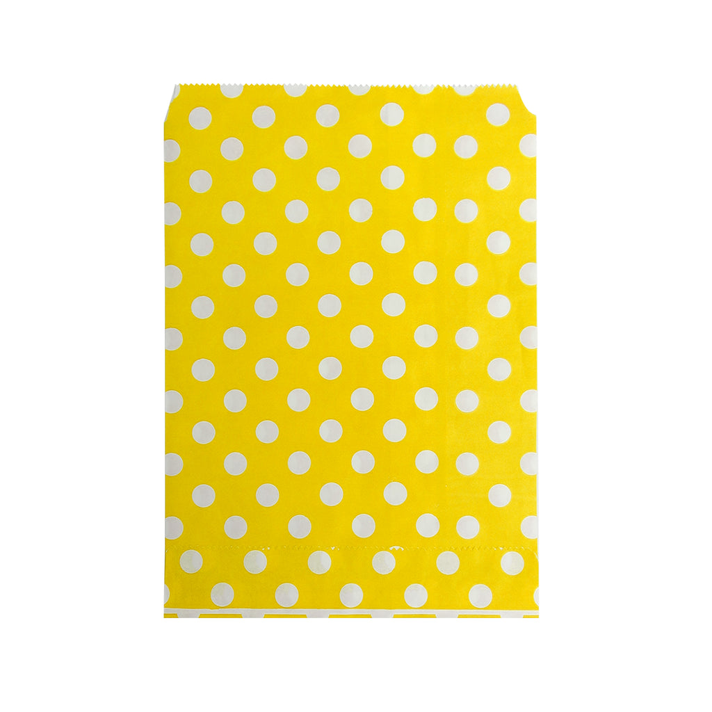Big Yellow Polka Paper Bag - 100 pcs
