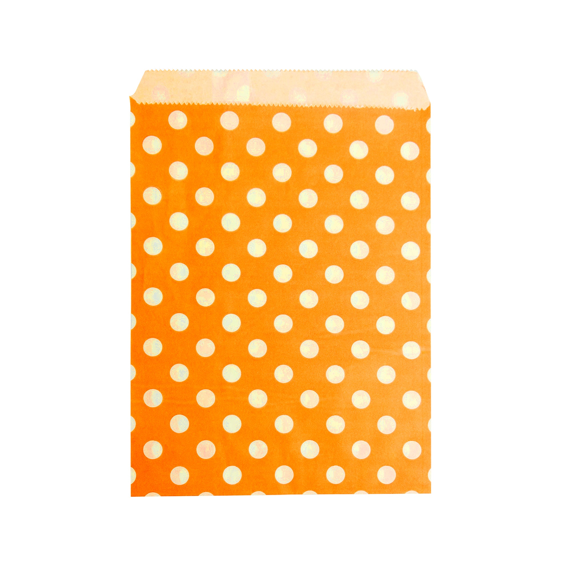 Small Orange Polka Paper Bag - 50 pcs
