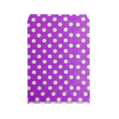 Small Purple Polka Paper Bags - 100 pcs