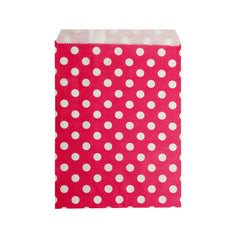 Small Red Polka Paper Bags - 100 pcs
