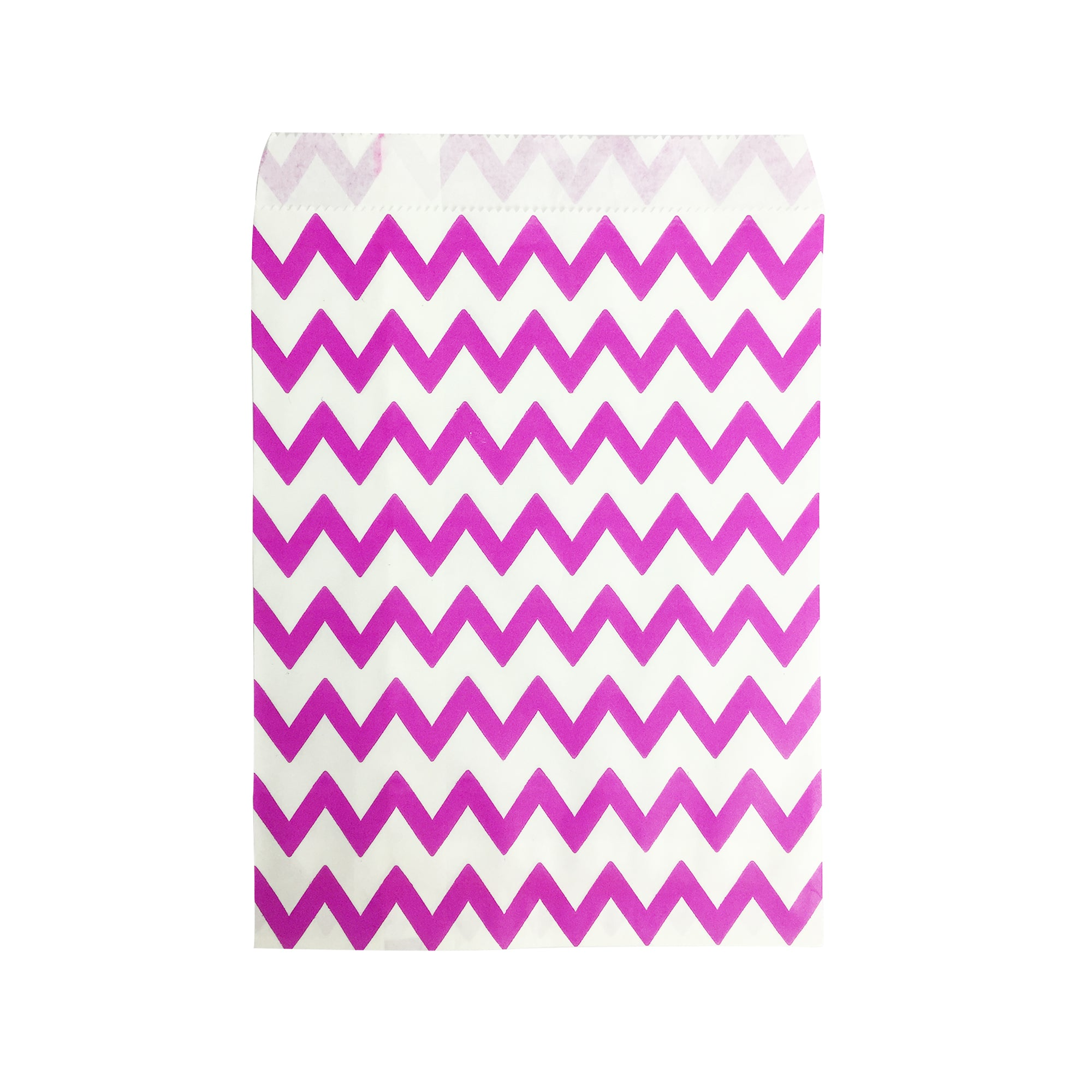 Big Dark Pink Zigzag Paper Bag - 100 pcs