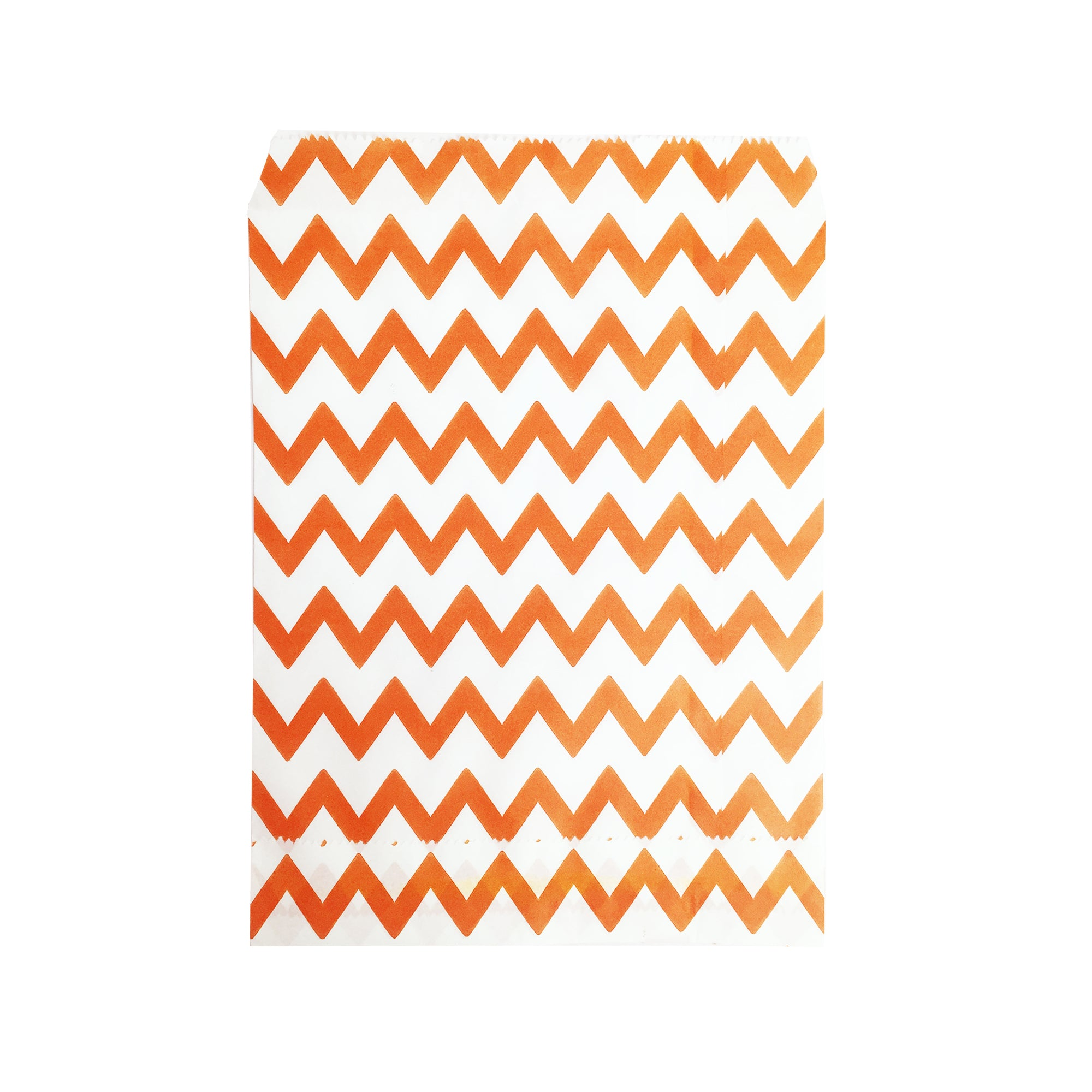 Big Orange Zigzag Paper Bag - 50 pcs