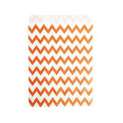 Small Orange Zigzag Paper Bags - 100 pcs