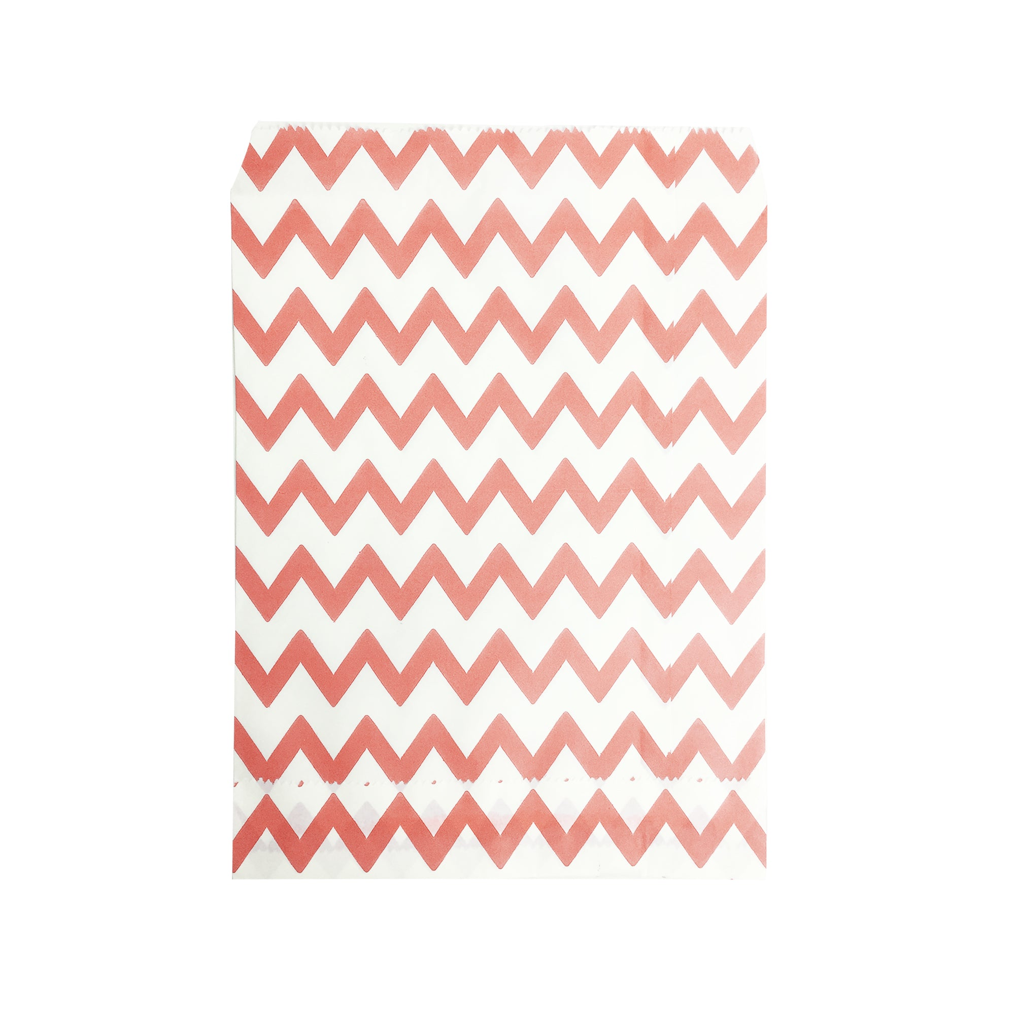 Big Peach Zigzag Paper Bag - 50 pcs