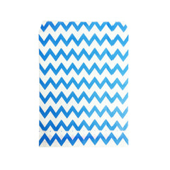 Small Dark Blue Zigzag Paper Bags - 100 pcs