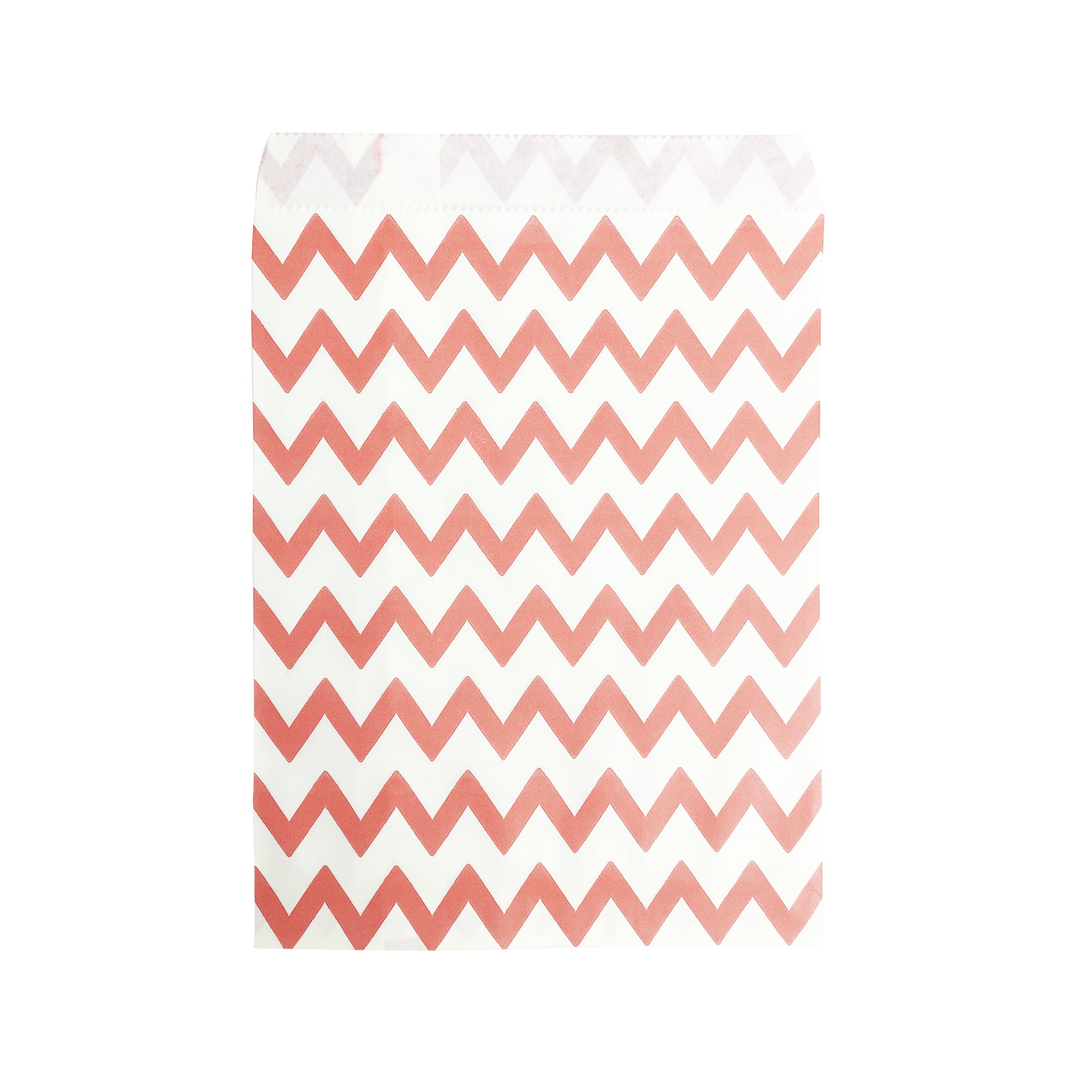 Small Peach Zigzag Paper Bags - 100 pcs