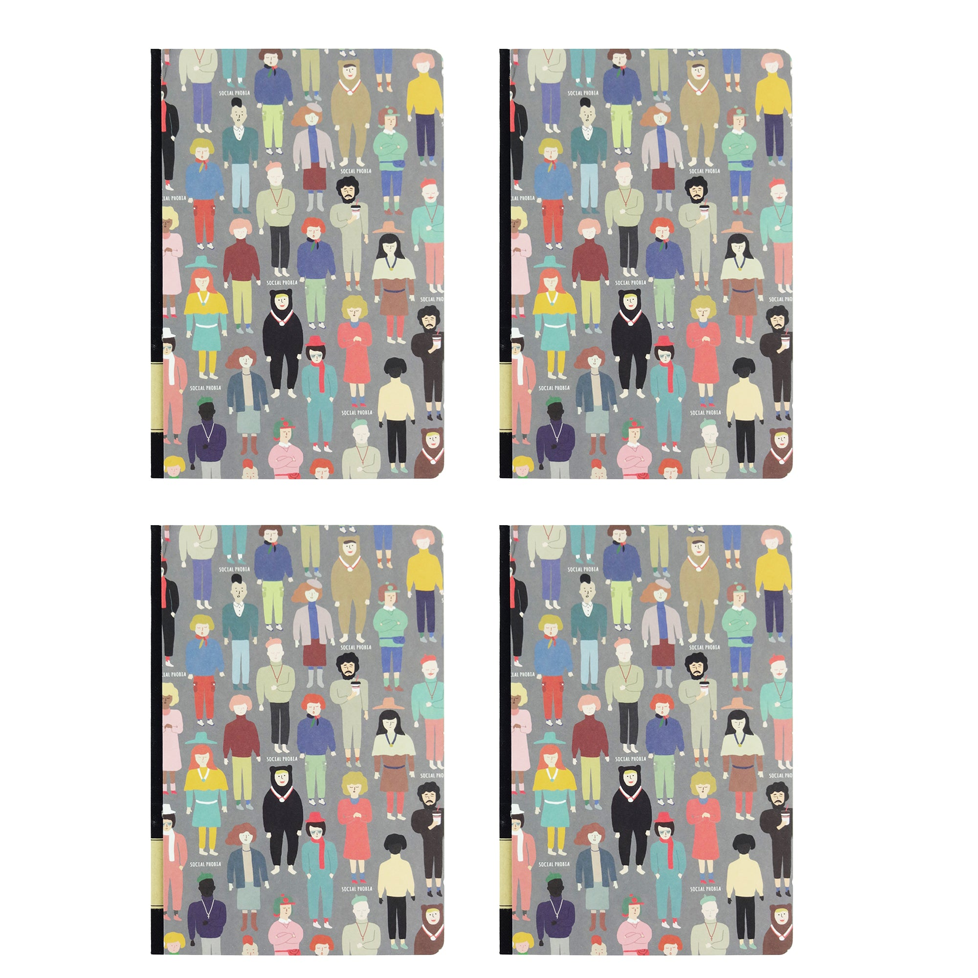 Social Phobia Diary - Set of 4