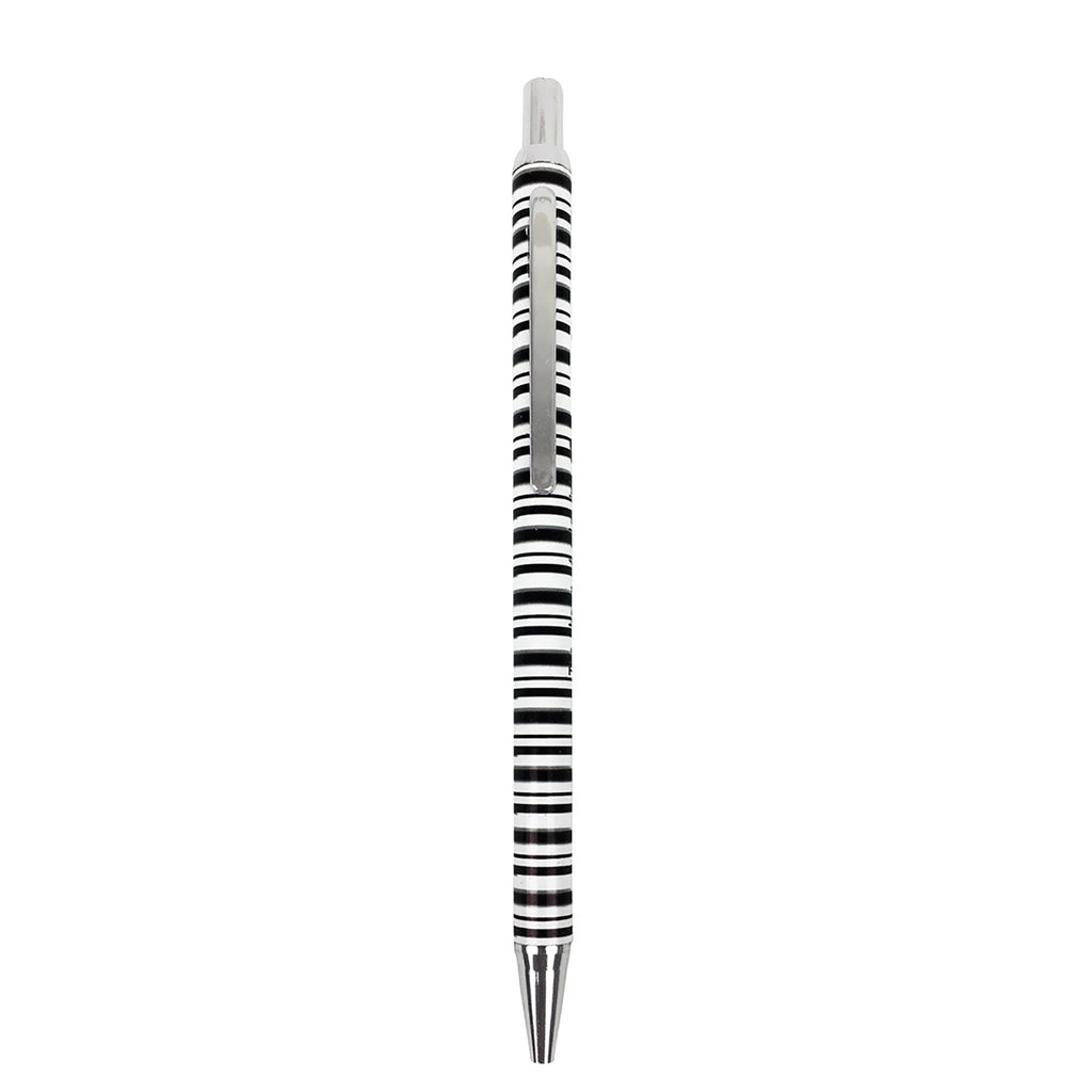 Striped Mechanical Pencil - Black/White