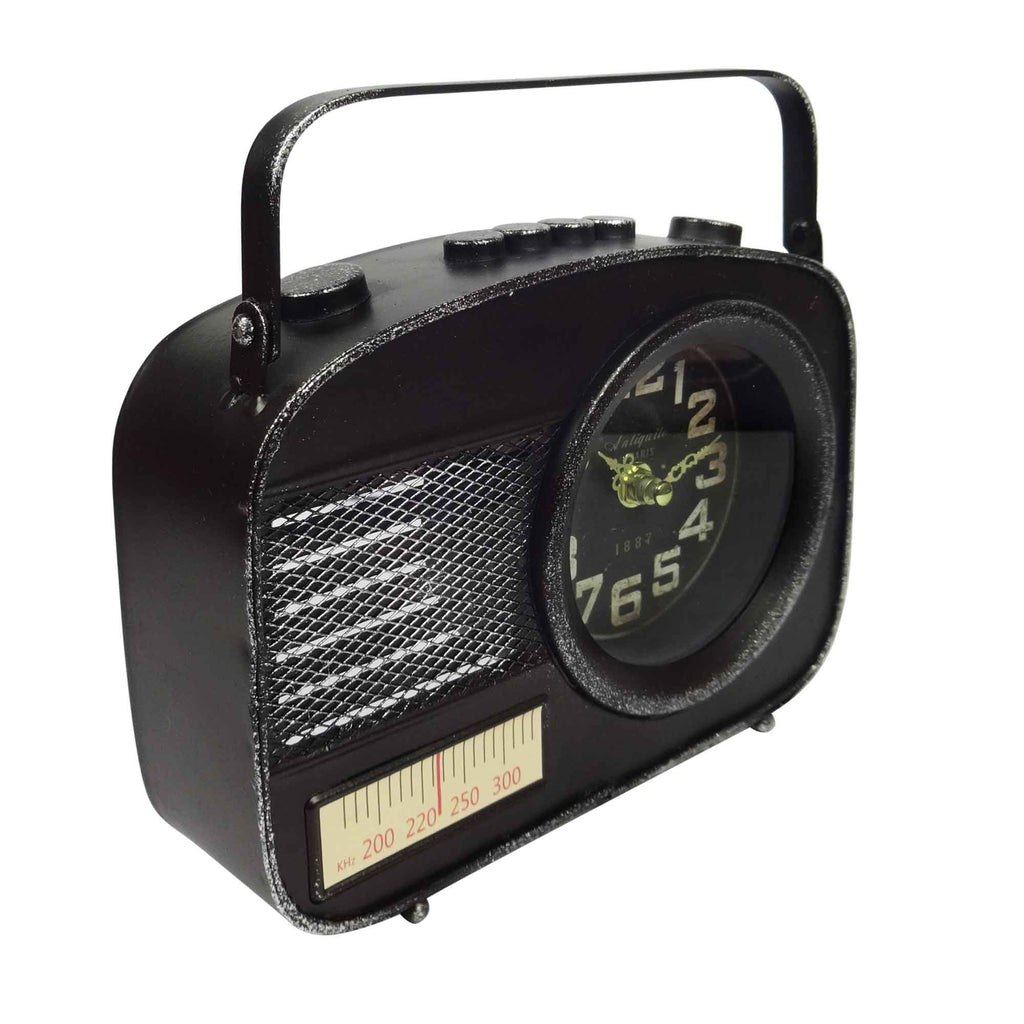 Metal Table Clock - Transistor Black
