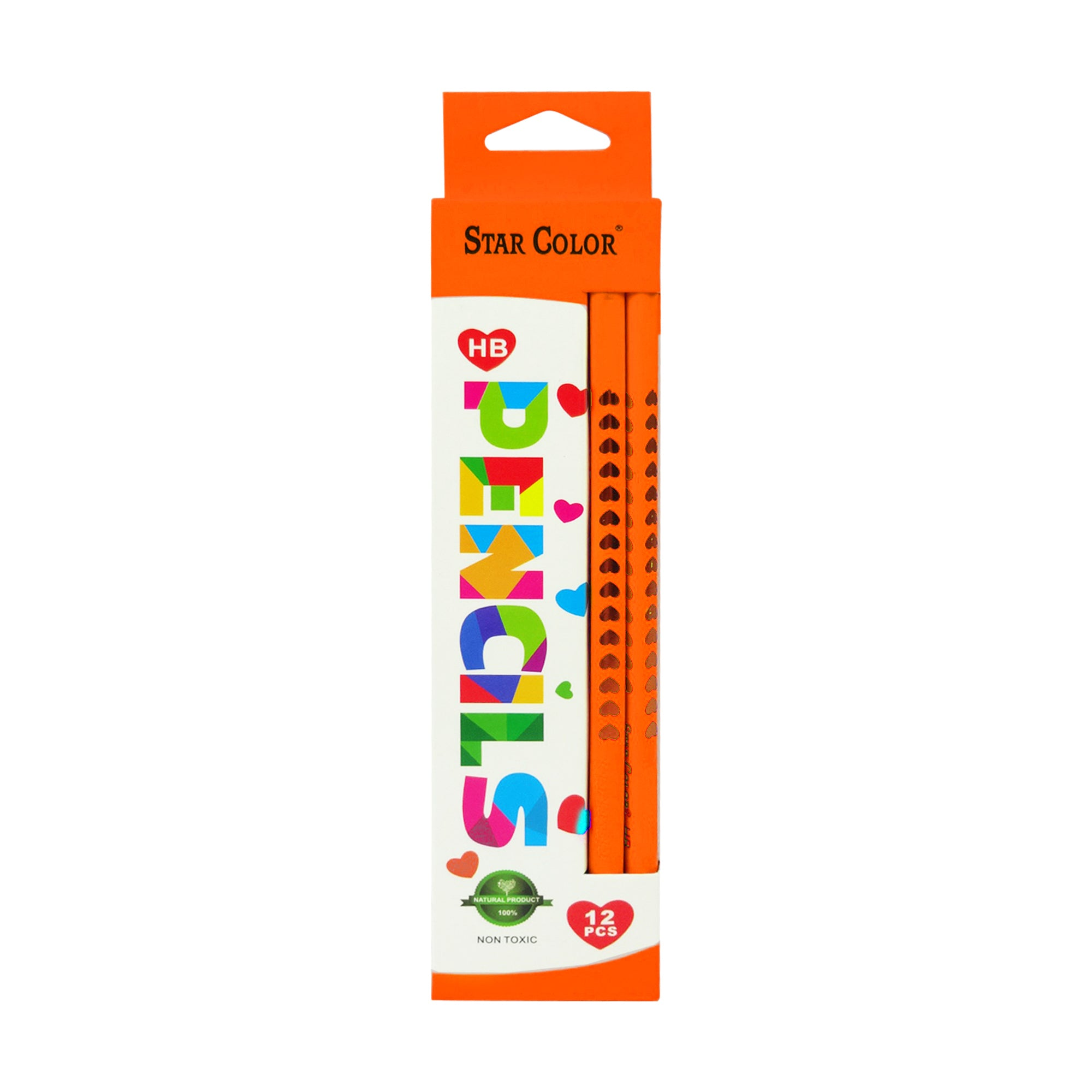 Neon Wooden Pencil - Orange