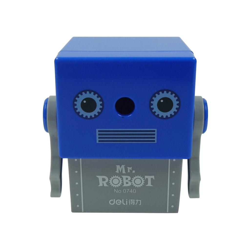 Plastic Pencil Sharpener - Confused Mr. Robot Grey