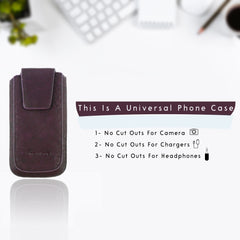 Universal Phone Pouch - Purple Classic