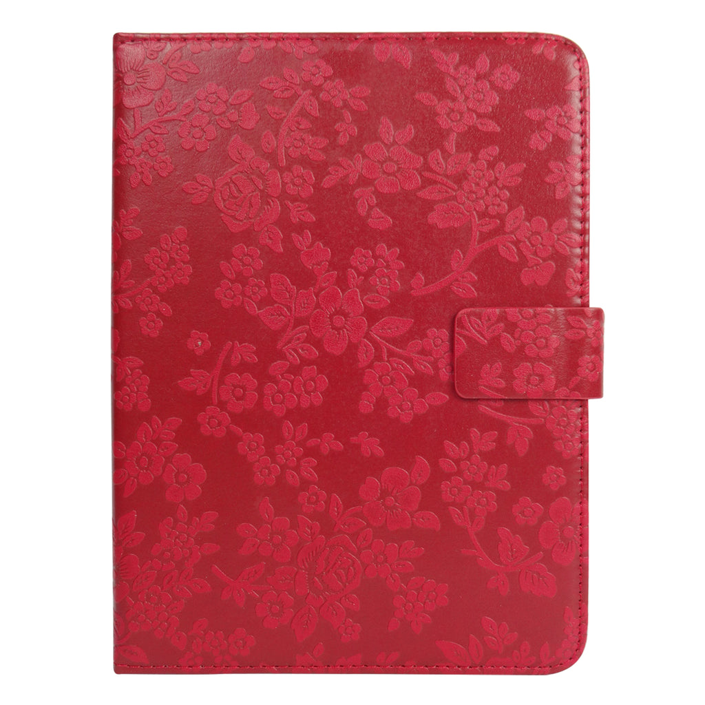 Red Vintage Floral Universal Tablet Case