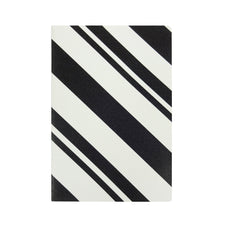 Black & White B5 Diary - Stripes